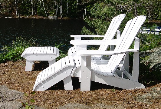 Adirondack or Muskoka Chair Footstool - The Barley Harvest Woodworking Plans
